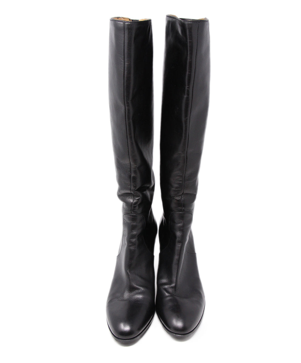 Crisci Black Leather Boots 4