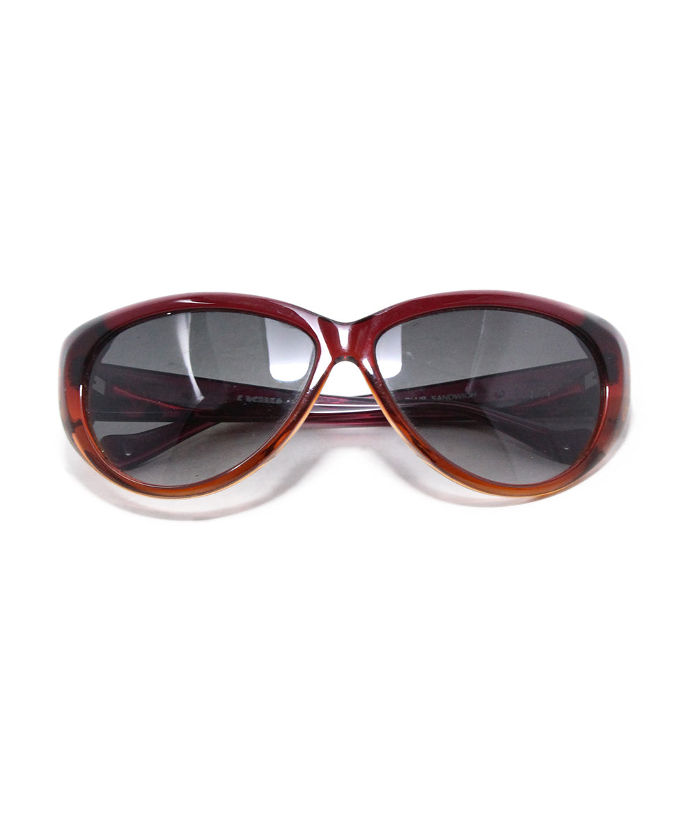Crome Hearts Red Orange Plastic sunglasses 1