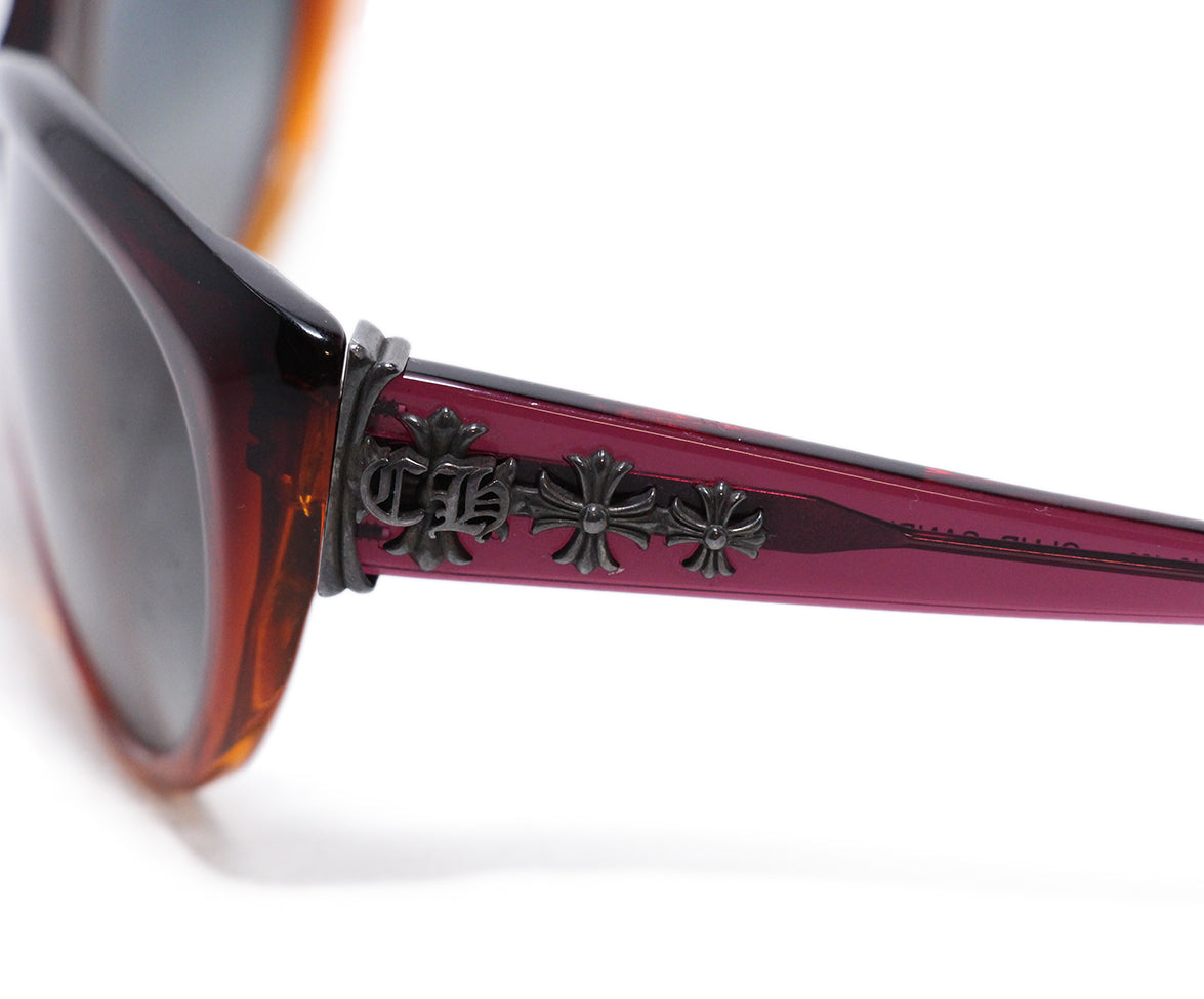Crome Hearts Red Orange Plastic sunglasses 5