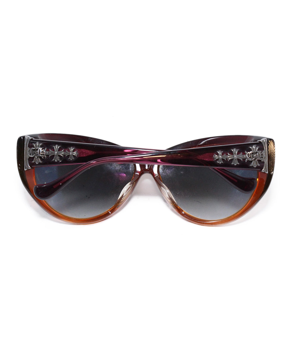 Crome Hearts Red Orange Plastic sunglasses 2