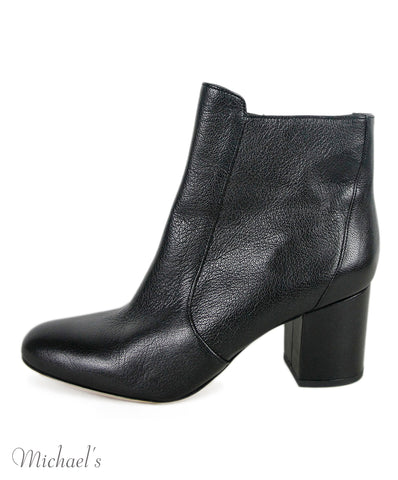 Dvf Black Leather Booties Sz 39