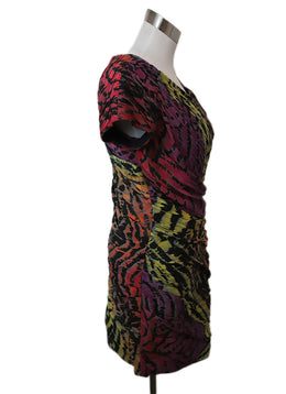 DVF Multi Color Silk Print Dress 2