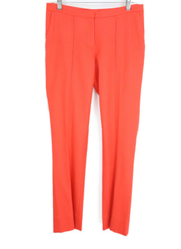 DVF Orange Cotton Pants 1