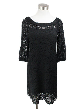 DVF Black Lace with Slip Dress 1