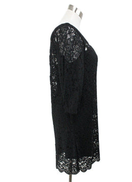 DVF Black Lace with Slip Dress 2