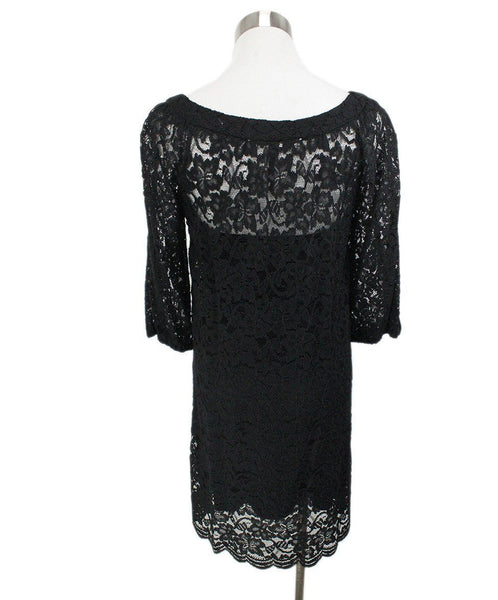 DVF Black Lace with Slip Dress 3