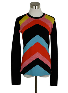 DVF Black Red Yellow Wool Sweater 1