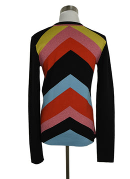 DVF Black Red Yellow Wool Sweater 2