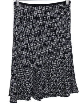DVF Black White Cubes Print Skirt