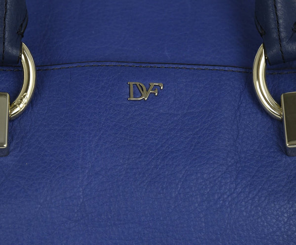 DVF Blue Leather Ombre Satchel | DVF