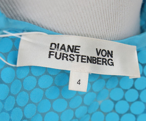 DVF Blue Turquoise Cotton Top 4