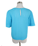 DVF Blue Turquoise Cotton Top 3