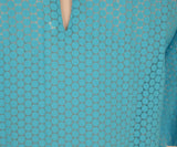 DVF Blue Turquoise Cotton Top 5