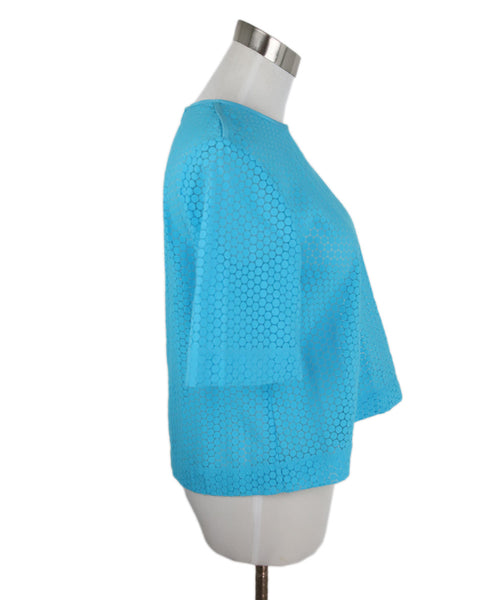 DVF Blue Turquoise Cotton Top 2