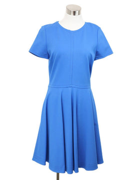 DVF Blue Viscose Polyamide Dress 1