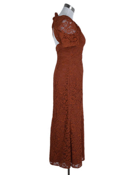 DVF Orange Lace Evening Dress 2