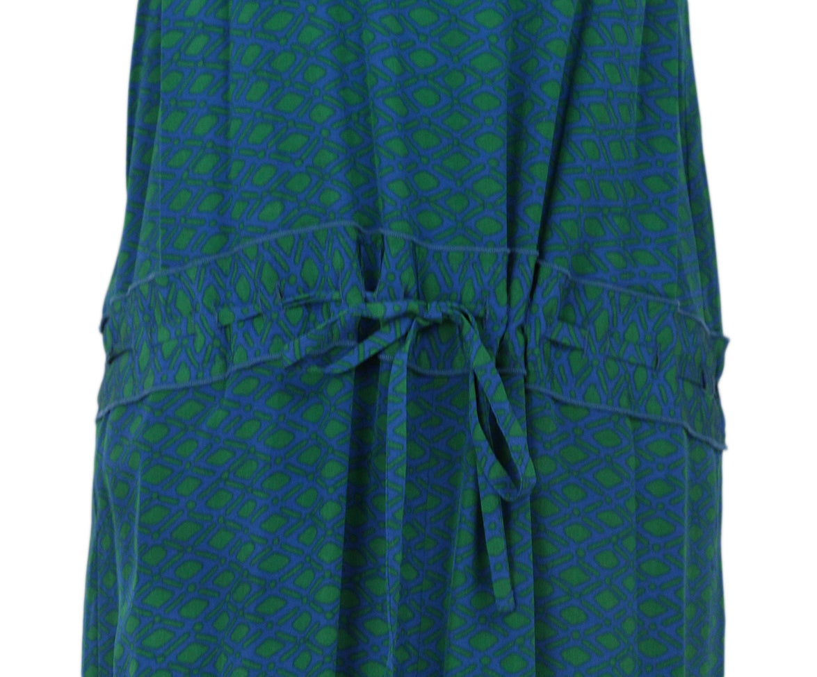 DVF green blue print jumpsuit 6