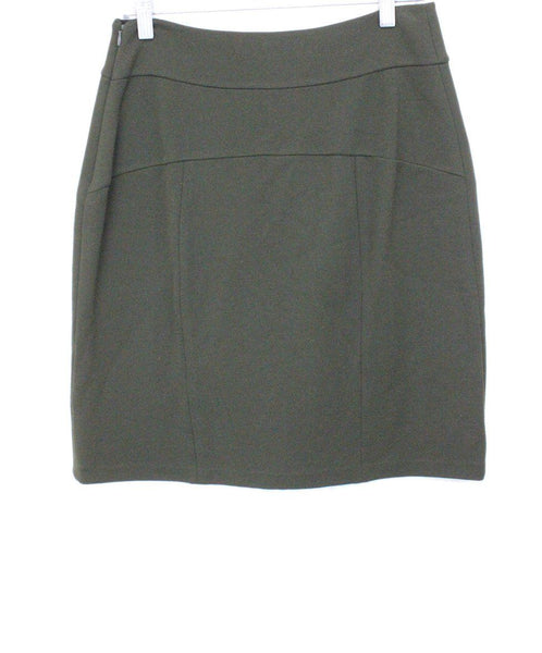 DVF Olive Wool Skirt Size 8