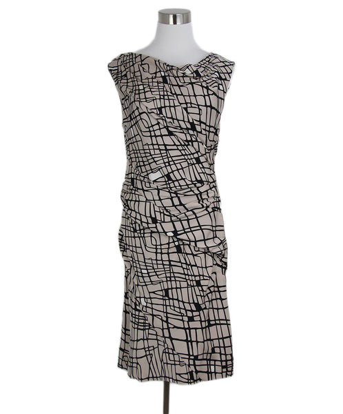 DVF Pink Black Print Silk Dress 1