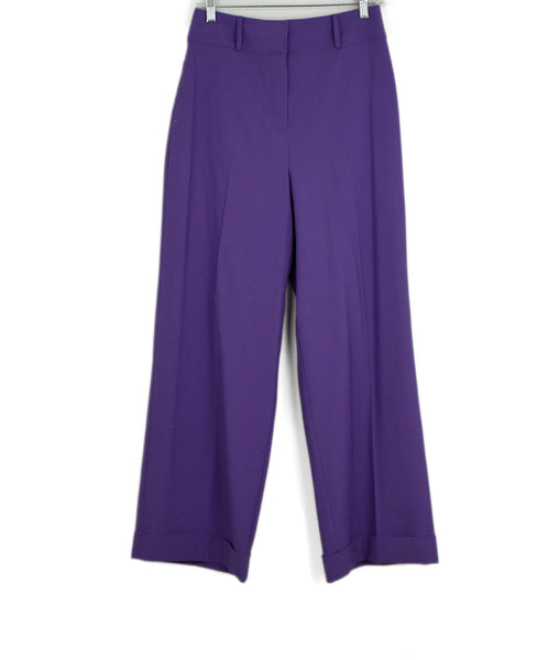 DVF Purple Lilac Wool Pants 1
