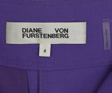 DVF Purple Lilac Wool Pants 3