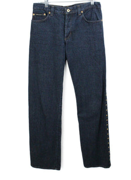 D& G Black Denim Gold Trim Pants 1