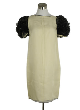 D&G Black and White Silk Evening Dress 1