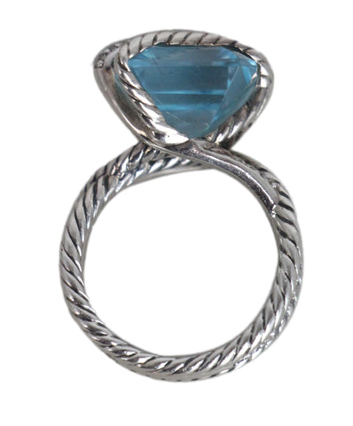 David Yurman blue topaz diamond sterling silver ring 1