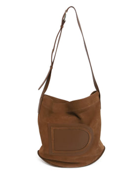 Delvaux Brown Suede Crossbody 1