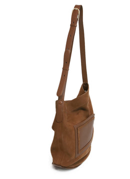 Delvaux Brown Suede Crossbody 2