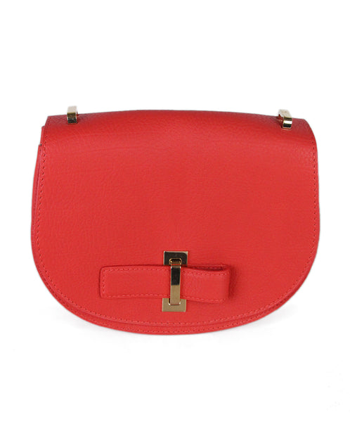Delvaux Le Mutin Mini Saddle Bag Red Leather 1