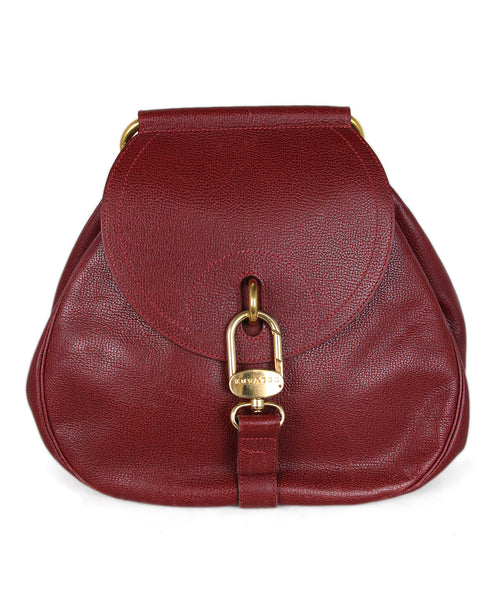 Delvaux Red Burgundy Leather Handbag 1