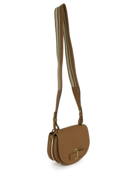 Delvaux Neutral Tan White Leather Canvas Shoulder Bag Handbag 2