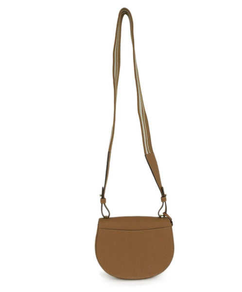 Delvaux Neutral Tan White Leather Canvas Shoulder Bag Handbag 3
