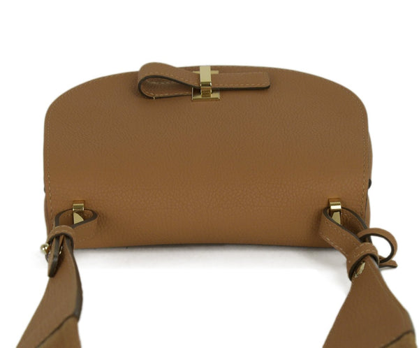 Delvaux Neutral Tan White Leather Canvas Shoulder Bag Handbag 5