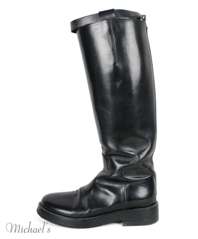 Demeulemeester Black Leather Silver Buckle  Boots Sz 37.5