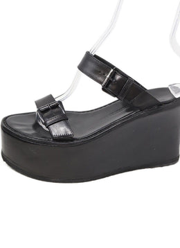 Sandals Demeulemeester Shoe Size US 8 Black Leather Platform Shoes
