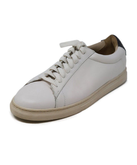 Prada White Black Leather Oxford Shoes 37