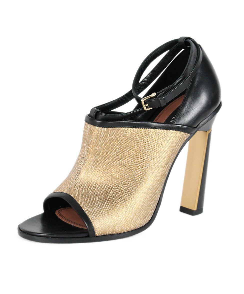 Derek Lam  Black Gold Leather Shoes Sz 38 - Michael's Consignment NYC  - 1