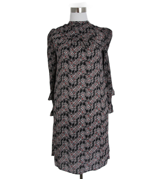 Derek Lam Black Red Print Dress 1