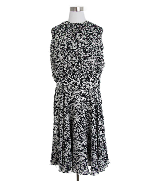 Derek Lam Black White Print Dress 1