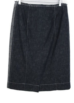 Derek Lam Blue White Denim Skirt 1