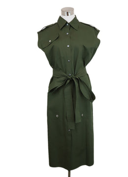 Derek Lam Green Cotton Dress