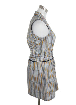 Derek Lam Neutral Striped Denim Dress 2