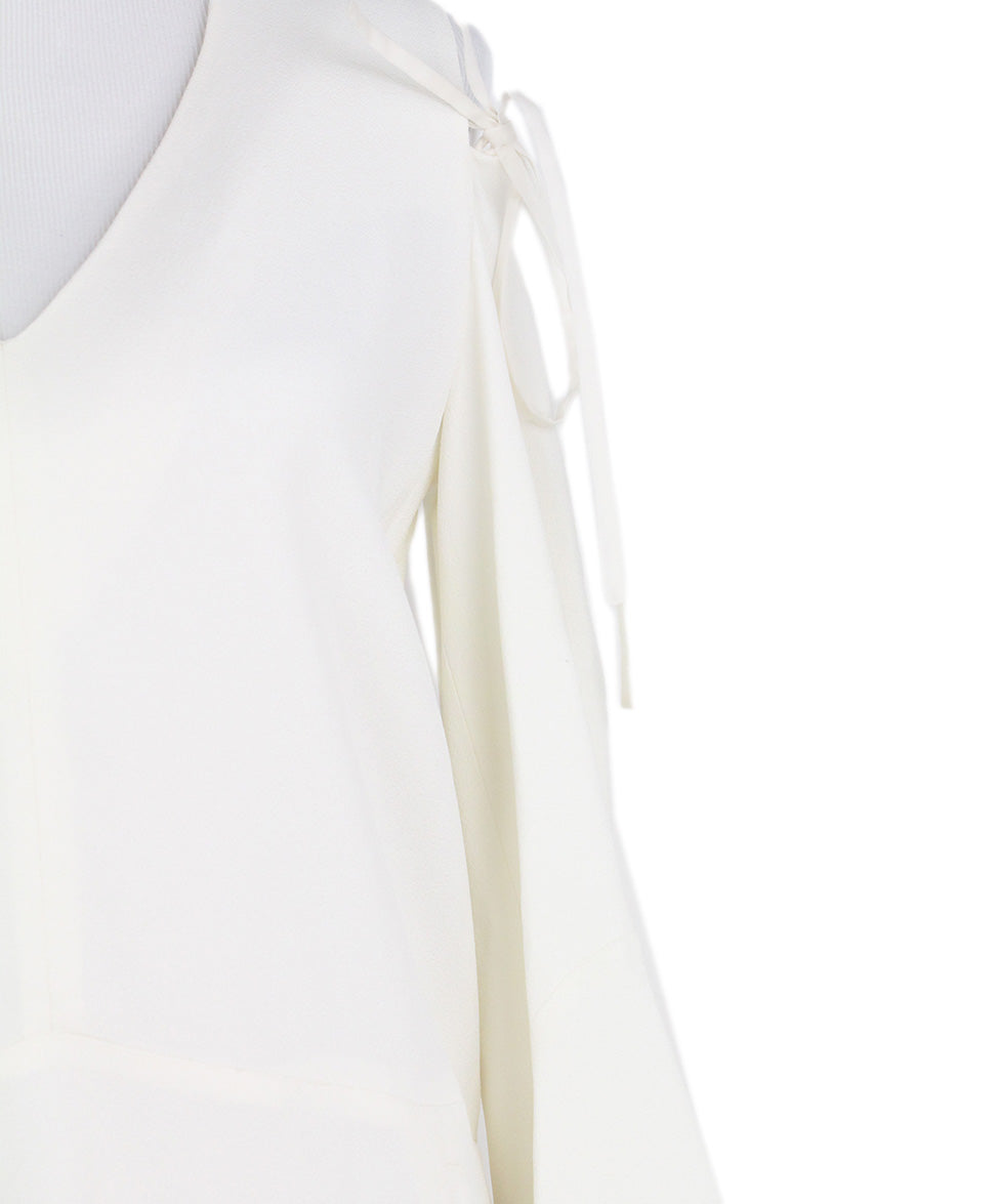 Derek Lam Open Shoulder Ivory Dress 6