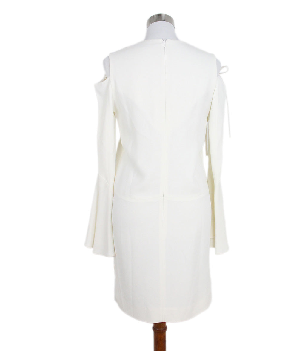 Derek Lam Open Shoulder Ivory Dress 3