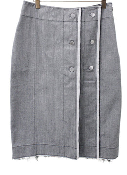 Derek Lam Grey Cotton Skirt