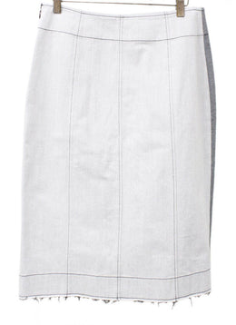 Derek Lam Grey Cotton Skirt 1