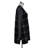 Derek Lam Black Grey Plaid Wool Polyester Trim Dress 2