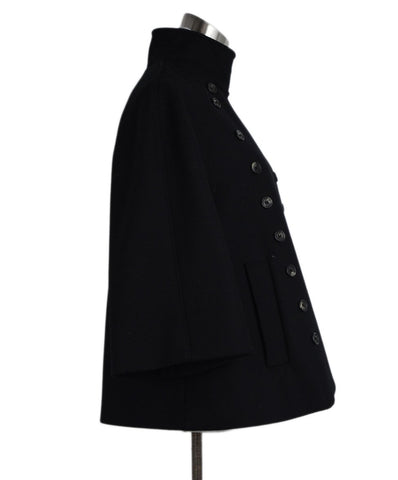 Derek Lam Black Wool Cashmere Coat 1